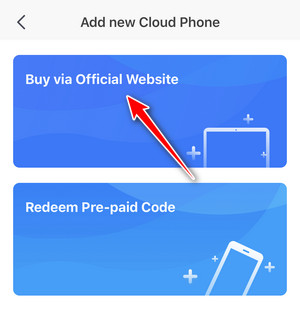 How to buy cloud phone on Redfinger app