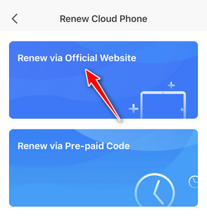 how to renew cloud phone on Redfinger